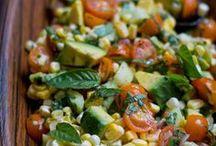 Salads / Salads that make you want to eat a salad.  Healthy salads, fruit salads, green salads, grain salads, even potato salads. All kinds of salads!!