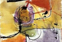 Mark Making: Color / Abstract Mixed Media with Prominent Mark Making and Expressive drawing. http://www.cdiannezweig.com/