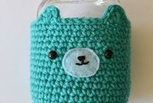 Crochet Can/ Jar / Vase / Cup / Candle Cozies / Board for crochet can, jar, vase, cup or candle cozies: includes free patterns, diy tutorials, inspirations and more