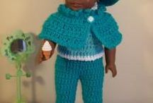 "18"" Dolls Crocheted   / All patterns have directions / by Elaine Bisbee"