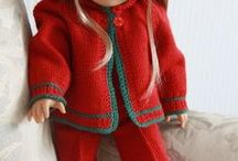 "18"" doll clothes knitted / All clothes are knitted.  Patterns on each site. / by Elaine Bisbee"