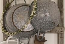 Grey Graniteware and Enamelware