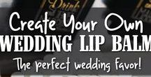 Wedding Lip Balm / Let your wedding guests know you care with customized wedding lip balm favors! Wholesale lip balm is easy to display and a thoughtful gift for friends and relatives!