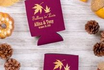 Fall Wedding Ideas / Ideas and inspiration for Fall Weddings: customizable fall wedding favors from Totally Promotional, fall color schemes and top trends for fall weddings.