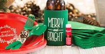 Christmas Holiday Inspiration / Spruce up your Christmas party with holiday-themed can coolers, tumblers, napkins and other items! Select the design or message you love!