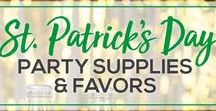 St. Patrick's Day Favs / Order high-quality St. Patrick's Day party favors for your big event! Use clever Irish sayings or other designs to customize your koozies, cups and napkins to wow your guests! We have all the gifts and supplies you need for a fantastic GREEN St. Patrick's Day bash!