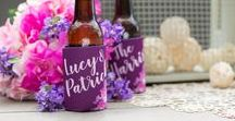 Full Color Wedding Can Coolers / Go the extra mile with full-color text or photo can coolers! Your text/image will appear on both sides and the bottom!