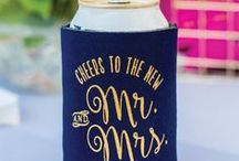 Wedding: Quote Designs / Match your wedding theme or create something unique for your special day with personalized can coolers!