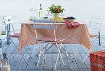 Alfresco dining / My style is a little bit vintage, a dash of modern, and heavily colour palette driven.