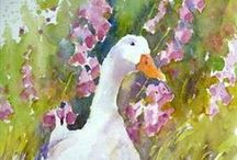 Watercolour - Birds and animals