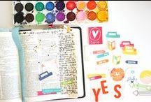 Illustrated Faith | Inspiration / Using a journaling bible to reflect on what God is teaching you in a creative way. For more info please visit http://shannanoel.blogspot.com