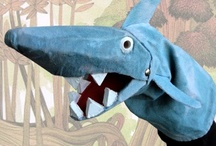 playing puppet theatre / handmade puppets for big and small theatre... handpuppets, fingerpuppets...