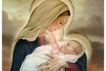 Hail Mary, Full of Grace / The beautiful Holy Divine Mother, may her love and heavenly grace be with you always.