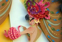 Cut paper art / The art of illustrating with pieces of cut paper