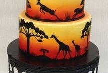 Safari Cakes / Inspiration for safari themed cakes