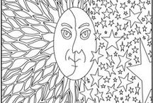 Art--Colouring pages / by Holly Douglas