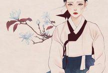 Beautiful Art   Hanbok / Art inspired by the Hanbok, the traditional dress of Korea
