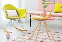 Home - Interior Design Details / Colourful homes in a mix of vintage secondhand finds and new-bought design items create beautiful homes