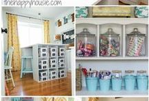 Craft Storage Ideas / Ideas to store your crafts and craft supplies.  Organized spaces to help you be creative!