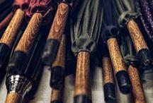 Stylish Umbrellas / #grooming #cosmetics #shaving #beards #mensgrooming #laundry #cosmetics #menswear #mensfashion #aftershave #beauty #mensaccessories #men #fashion #sartorial #umbrellas #italy #handmade #handcrafted