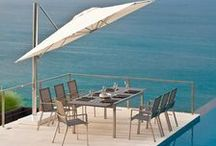 Lucerne Collection / Contemporary and sleek design, combining the latest innovation in outdoor surfaces, HPL.  Using sleek stainless steel, HPL & Batyline we have a range of outdoor dining furniture which can fit into any location. Find the whole collection here! http://www.indian-ocean.co.uk/collections/lucerne.html