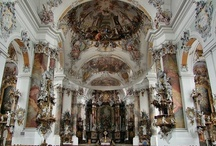 Baroque Architecture / (1550-1790) Baroque architecture can be seen as a more complex, more detailed, more elaborate, more ornamented form of Renaissance architecture. More swirls, more complex manipulation of light, colour, texture and perspective.