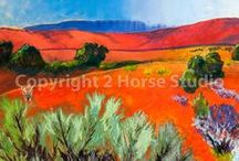 2 Horse Studio / Original Paintings by Anna Marie Mead
