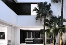 Black & White Exterior / Exteriors of Black and White Residential and Commercial Buildings....