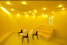 Yellow Interior / Interior Design and Decor in the Yellow Hues, some Exteriors.