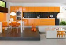 Orange Interior / Interior Design and Decor in the Orange Hues, some Home Exteriors.