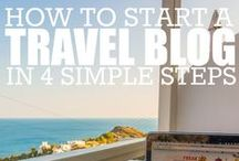 Travel Blogging / Top tips for travel bloggers on how to run a successful business from the road. / by Alex in Wanderland