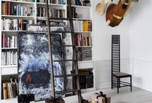 Bookshelves & Libraries / Color coded books, smart built ins and floor to ceiling libraries. Find bookshelf and library inspiration for your living room, dining room or home office here.