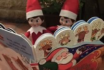 Elf in a Shelf (RFAC) / Each morning in December our élves Twinkle & Puddin appear in a different place. Here are a few of our favourites.