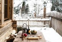 Winter Inspiration / Snowy nature and landscapes, home decor inspiration and delicious recipes for the cold season. Get inspired by all of the best things about the winter that we all love so much.