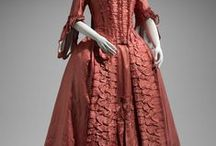 Women's Clothes c1700 to c1780 / The gowns all, theoretically, have a natural waist.