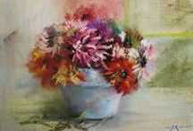 Available Pastel paintings / pastel paintings of artist Joke Klootwijk from the Netherlands