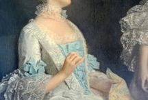 Paintings of Women's Clothing 18th Century