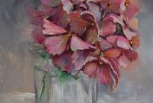 Hydrangea in ART / Paintings of hydrangea