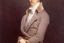 """Paintings of Men's clothing, 18th/early19th Century / Costume see also """"Faces"""""""