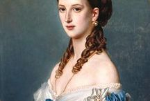 Paintings of Women's Clothing, later 19th Century (includes photos) / by Suzi Clarke