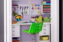 Storage closet working space