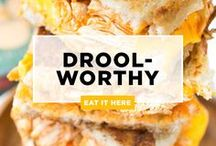 """DROOL-WORTHY Recipes / This is a board for food and drink recipes that aren't only delicious, but also can answer the, """"What's for breakfast? Lunch? Dinner? Dessert?"""" questions! If you'd like to be added to this group, follow our boards and email me at julie@bitememore.com. Please remember, no spamming (you'll be removed), have all pins lead to original sources and pin no more than 5 at a time. Thanks for Biting (and drooling)!"""
