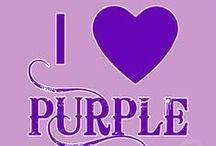 PURPLEICIOUS / I love anything and everything purple....my favorite color forever and today. / by Marilyn Hawkes