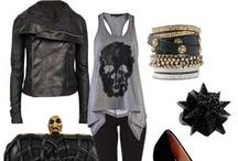 Badass ☠✯ Style / A girl can be just as sexy without showing some skin.  Sexy is having brains, knowing how to carry herself and still being a badass. | studs ♦ spikes ♦ skulls ♦ ripped jeans ♦ animal prints / by Joanne Pho