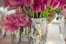 Pink Floral Arrangements / by Tana Holly