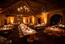 Seaside Splendor ~ El Mar & La Marina Weddings / This Spanish-style venue stretched alongside the Pacific offers a cozy, traditional ambience. High wood beam ceilings, wrought iron chandeliers and a glowing fireplace lend classic California romance to your special day.