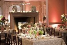 Ballroom Bliss ~ Loggia Weddings / The grand Loggia Ballroom features 18-ft. high ceilings, sparkling chandeliers, antique mirrors, an elegant fireplace and French doors. This classic ballroom and attached terrace surrounded by lush gardens make wedding day dreams come true!