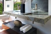Bathrooms / Bathroom Designs - modern and traditional - fixtures and color schemes / by Belinda Friedman