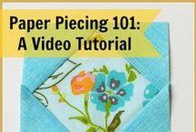 Sewing Tutorials (Paper Piecing)  / Patterns, Tutorials and Tips on Paper Piecing Sewing