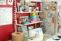 Inspiring Craft Rooms & Storage / by Janine